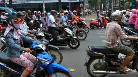 Fünf Millionen Motorräder verstopfen die Straßen