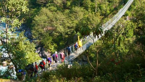 Hängebrücke im Solo-Khumbu