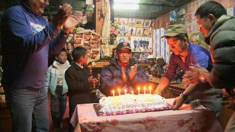 Geburtstagsfeier in Namche Bazar