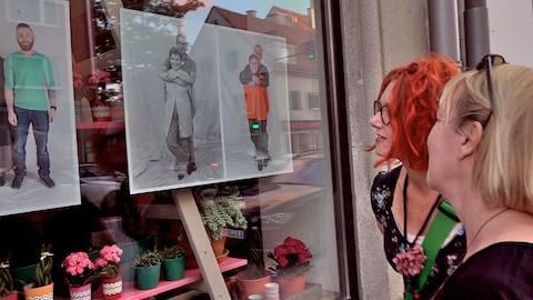 Straßengalerie im Stadtviertel